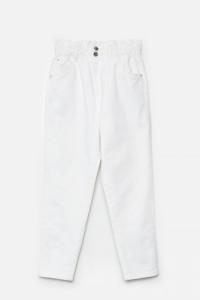 Jeansy mom Cropp białe...