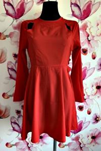 nasty gal sukienka czerwona elegancka odkryte plecy nowa hit 38...
