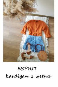 Rudy kardigan z wełną sweter na guziki Esprit S M L...