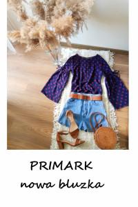 Nowa bluzka w groszki Primark vintage szerokie rękawy kropki...