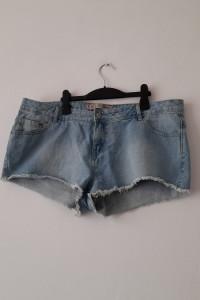 Jasnoniebieskie jeansowe krótkie spodenki 44 46...