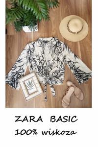 Zara Basic bluzka kimono narzutka wiskoza S M L oversize...