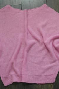 Bluzeczka dzianinowa nowa cukierkowy róż roz uni...