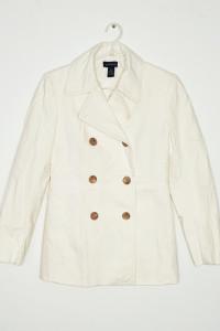 Dłuższa kurtka płaszczyk ecru...