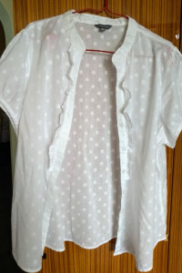 Śliczna biała bluzeczka na lato