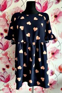 shein sukienka modny wzór serca serduszka jak nowa hit 42...