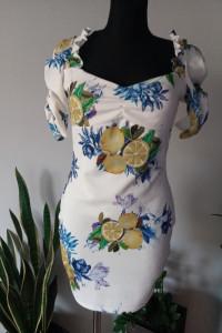 sukienka w cytryny