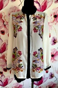 atmosphere koszula elegancka modny wzór kwiaty motyle 42...