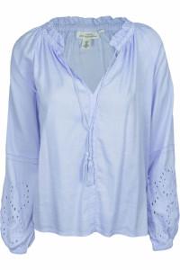 Błękitna bluzka haftowane rękawy...