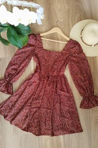 Vintage sukienka w kwiaty rozkloszowana XS Shein...