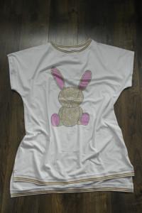 Sukienka cyrkonie królik biała 48 50...