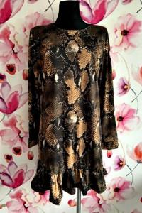 what&ver sukienka modny wzór węża skór nowa hit 40...