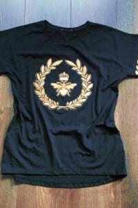 Czarna nowa bluzeczka złoty haft 38...