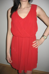 Czerwona sukienka New Look XS S 34 36