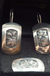 kolczyki i zawieszka srebro 925...