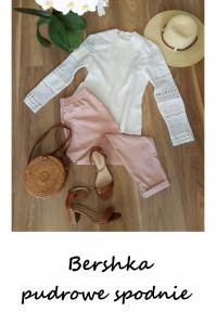 Nowe pudrowe spodnie Bershka chinosy M pudrowy róż...