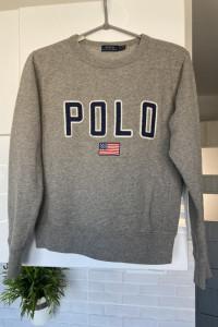 Polo Ralph Lauren szara bluza dresowa nadruk print...
