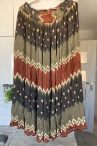 vintage retro spódnica boho wzory...