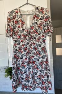 Mango sukienka letnia kwiaty floral zwiewna...