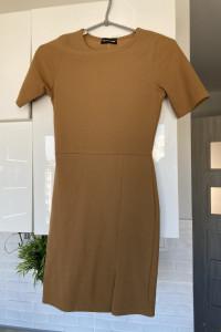 Pretty Little Thing sukienka beżowa cielista nude bodycon...