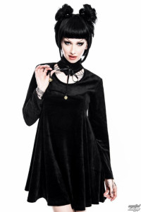 Pussycat Killstar Sukienka czarna z dzwoneczkami...