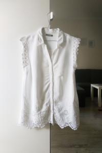 Biała bluzka z haftem rozm M etno