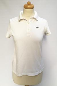 Koszulka Polo Biała Lacoste M 38 Biel Bluzka T Shirt