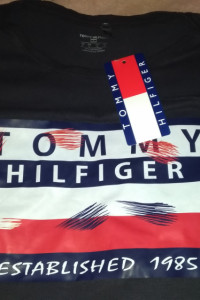 Komplet Letni Tommy Hiligfier Czarny XXL