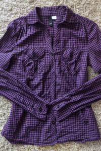 fioletowa koszula w kratkę xs