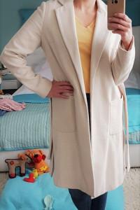 Kremowy płaszcz Dorothy Perkins 38 40...