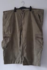 Zielone khaki spodnie rybaczki z kieszeniami 66
