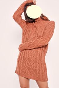 Missguided ciepły długi sweter roz M...