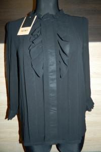 ICHI czarna koszula mgiełka roz S...