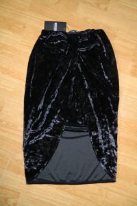 Missguided welurowa spódnica roz 40