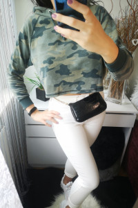 H&M Bluza damska oversize moro S...