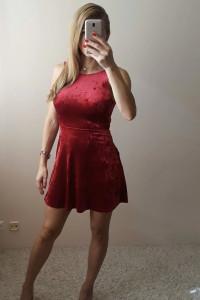 Sukienka welurowa S...