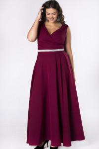 Piękna bordowa sukienka z pakiem kryształki 46 XXXL...