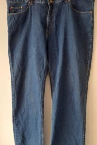 Niebieskie klasyczne jeansy wysoki stan W52 L36...