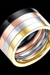 Nowe pierścionki obrączki komplet zestaw kolory złoty srebrny c...