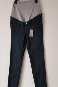 Granatowe ciążowe jeansy rurki skinny 34 36...