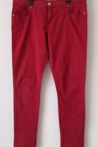 Ciemnoczerwone spodnie rurki skinny 44...