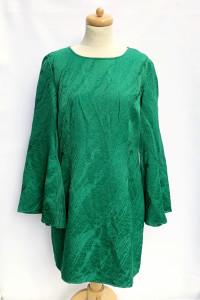 Sukienka Zielona Tłoczony Wzór Mint&Berry XL 42 NOWA...
