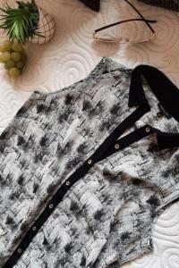 koszula asymetryczna black white 38...