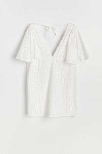 Sukienka plażowa Reserved haft biała