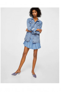 Nowa sukienka Mango L 40 mini jeans dżins denim lyocell niebies...