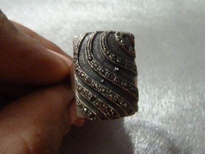 Pierścionki pierścionek srebro z markazytami