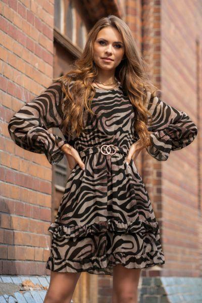 Suknie i sukienki Sukienka Peronin panterka dwa wzory SM LXL