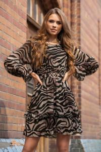 Sukienka Peronin panterka dwa wzory SM LXL