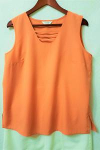 Pomarańczowa bluzeczka bez rękawów 44 Karlsbader