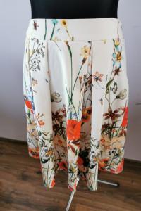 Piękna spódnica midi Zara plisowana w kwiaty rozmiar L